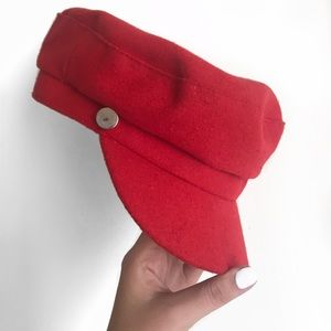 cherry red conductor hat